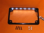 LED lighted Black License Plate Frame MB-06BPF