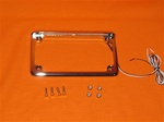 LED lighted Chrome License Plate Frame MB-06CPF