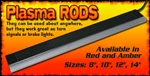 Plasma Rods LED'S RED CD-PLASMA-RED-10'' 20401551