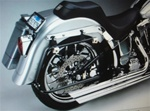 Softail Saddlebag Bracket System in Black Fits 200 Series Tire-SE- 2007-UP FLSTF CV-7210-B