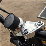 Klock Wreks Chrome Device Mounts for Harley Center Riser. KW-06360053