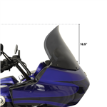 Klock Werks  14'' Dark Smoke Flare Windshield For 1998-2013 Road Glide Fairings  KW-2310-0482