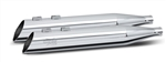 RC Components, Slash Cut End, Chrome 4.0'' Slip-On Mufflers RCX-103C