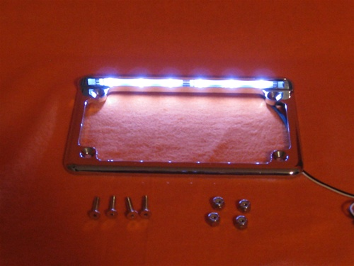 led lighted chrome license plate frame mb 06cpf