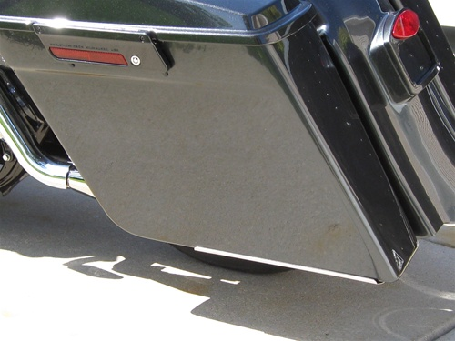1993 2013 4 5 Quot Stretched Saddlebags 2 Into 1 Exhaust Mb 1500sb