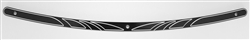 CARL BROUHARD DESIGNS Black Edge Windshield Trim -1997-2013 FLHT  CB-WTED-01-B