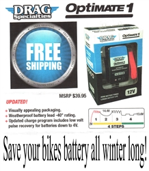 Drag Specialties Battery Charger Optimate 1