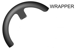 "Hugger Series Front Fender, 1984-2013 Wrapper STYLE: 21"" FRONT WHEEL"