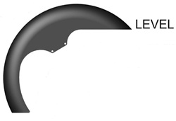 "Hugger Series Front Fender, 1984-2013 Level STYLE: 21"" FRONT WHEEL  FLT"