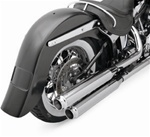 "Klock Werks,  Softail Rear Fender, 4"" stretch frenched tag"