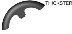 Hugger Series Front Fender, Thickster FRONT WHEEL, FITMENT: 1986-2013 FLST (EXCLUDES: Springer)
