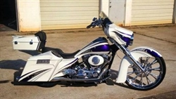 2014-UP Benchmark Front Fender, Bagger APPLICATION: 23'' with raked frame & neck only!! | KW-1401-0423