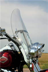 Klock Werks Flare Windshields 17'' Clear FITMENT: FLS SOFTAIL Family with OEM windshield, 23100389