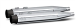 RC Components, Thunder Black End Caps, Chrome 4.0'' Slip-On Mufflers RCX-102C-05B
