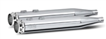RC Components, Edge Chrome End Caps, Chrome 4.0'' Slip-On Mufflers RCX-102C-08C