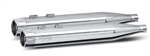 RC Components, Rival Chrome End Caps, Chrome 4.0'' Slip-On Mufflers RCX-102C-12C