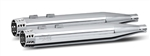 RC Components, Gatlin Chrome End Caps, Chrome 4.0'' Slip-On Mufflers RCX-102C-14C